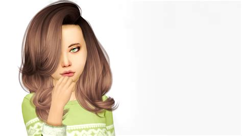 sims 4 cc for kids hair sims 4 cc s the best erratic hair converted for girls