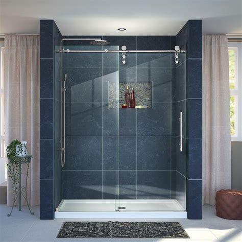 36 Shower Door Dreamline Enigma Z 36 In X 48 In X 78 75 In Frameless Sliding Shower Door In Polished