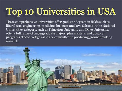 Top Mba Universities In Usa by Top 10 Universities In Usa