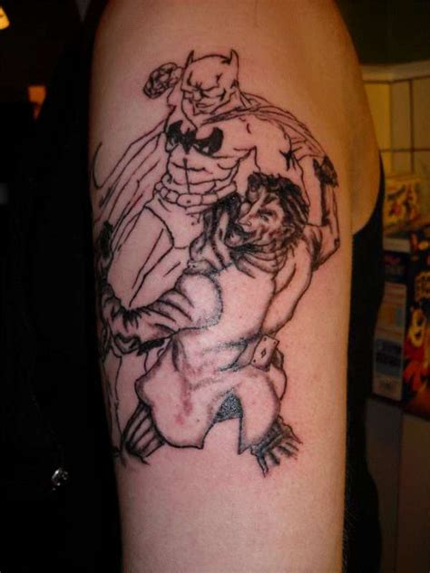 batman tattoo art batman vs joker tattoo www pixshark com images