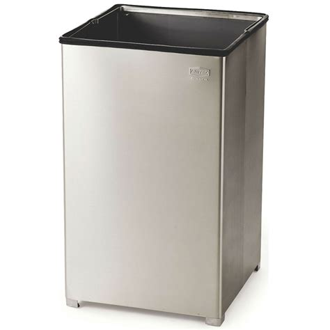 40 Square rubbermaid fgb1940ssrb 40 gallon commercial trash can