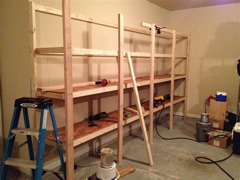 build sturdy garage shelves home improvement