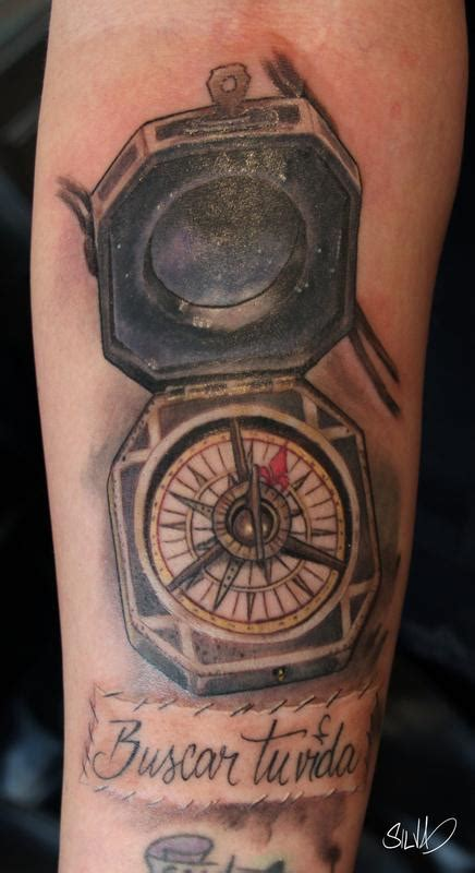 captain jack sparrow compass tattoo by marvin silva