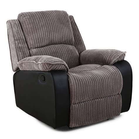 fabric recliner armchairs postana jumbo cord fabric recliner armchair sofa lounge