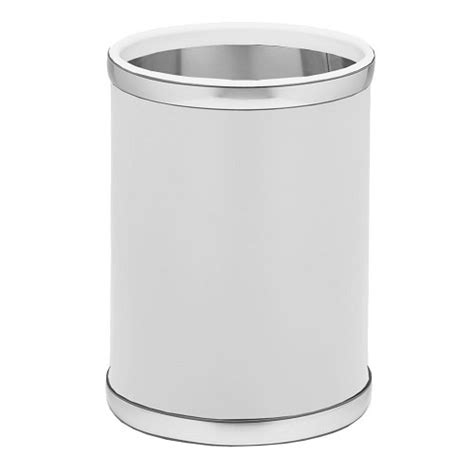 white bathroom trash can incredible brilliant white