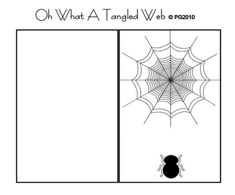 spider card template 202 best images about paper craft themed card templates on
