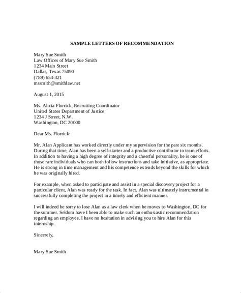sample recommendation letter templates