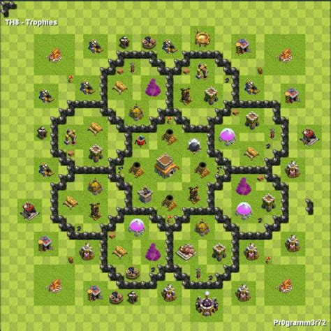 layout cv8 defesa centro da vila nivel 8 melhor layout clash of clans dicas