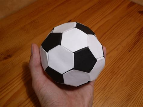 Steps To Make A Paper Football - alf img showing gt soccer origami steps easy
