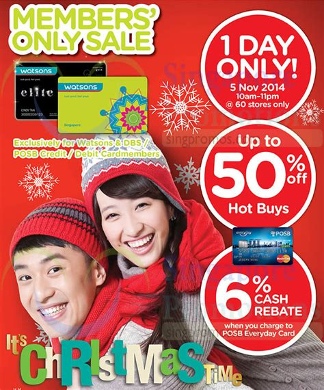 Up To 50 6 up to 50 percent buys 6 percent rebate 187 watsons up to 50 1 day sale 5 nov 2014