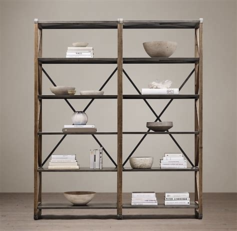 restoration hardware 20th c zinc truss shelving