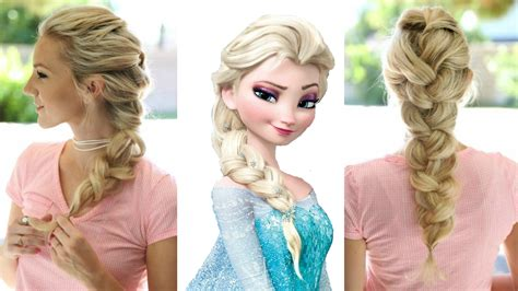 frozen elsa s braid hairstyle simple and beautiful