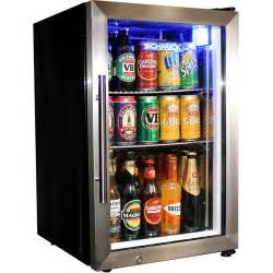 Small Refrigerator For Home Bar Tropical Glass Door Fridge Compact 68 Litre With Lock