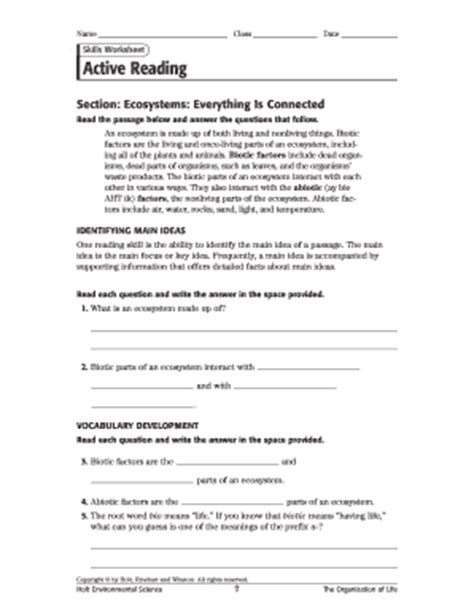 Skills Worksheet Active Reading Answers by Fillable Azdhs Using A Scale Of 1 5 5 Being The