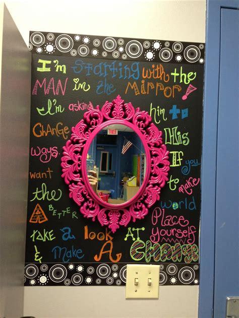 chalkboard paint ideas for classroom leader in me inspired mirror in my classroom chalkboard