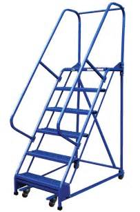 7 step portable warehouse ladders with 18 wide perforated steps dockladdersdepot com