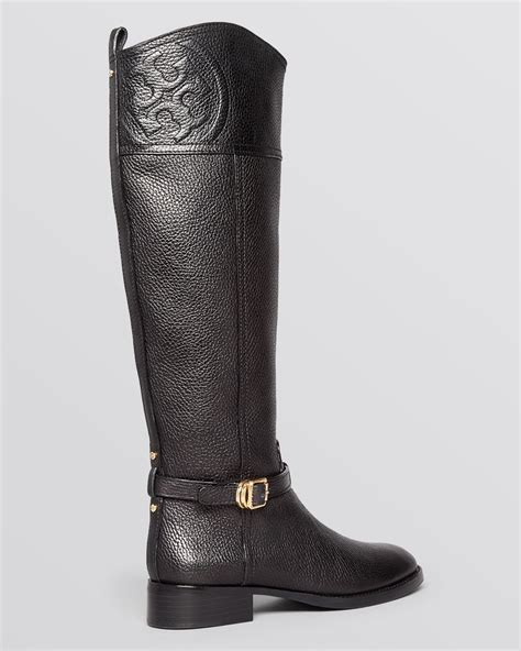 burch black boots lyst burch flat boots marlene in black
