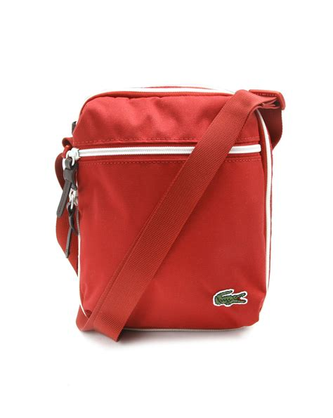 bags for lacoste small polyester bag in for lyst