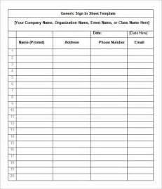 Sign In Sheet Free Template by Sign In Sheet Templates 64 Free Word Excel Pdf