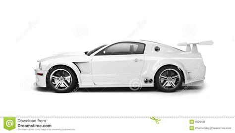 white mitsubishi sports car dynamic white sport car side view stock illustration