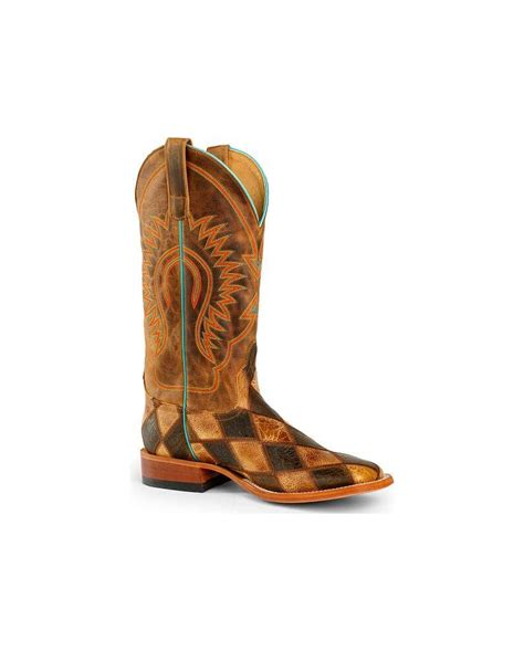 Mens Patchwork Boots - bean boot company 174 s patchwork western boots