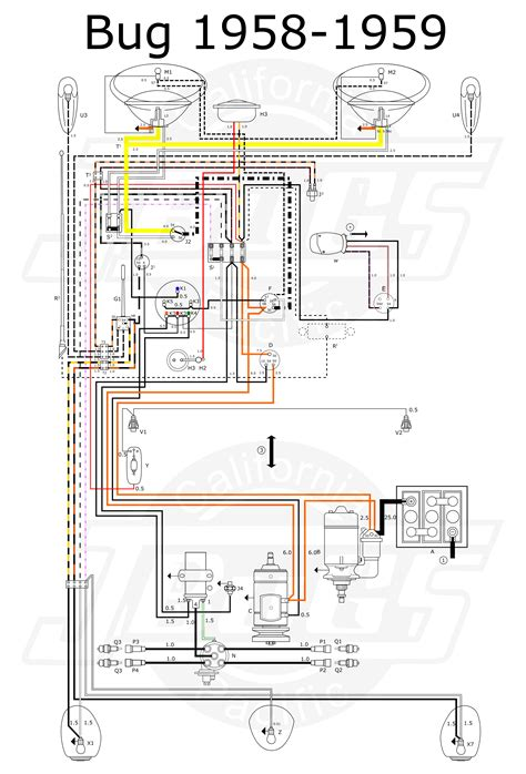 vw tech article 1958 59 wiring diagram