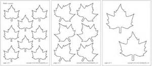 maple leaf cut out template leaves printable templates coloring pages