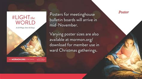 light of the world calendar larry richman s blog light the world 2016 lds christmas