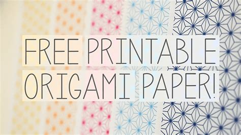 Print Out Origami - free printable origami papers from papercrystal