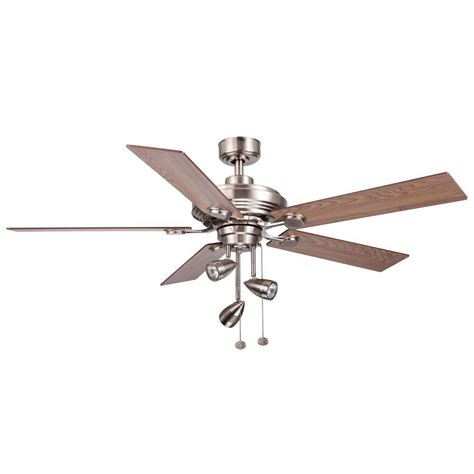 escape ii 60 in led brushed nickel ceiling fan brushed nickel ceiling fan home decorators collection