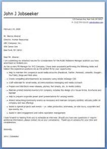 Relations Cover Letter Sles by Cover Letter Relations Manager Resume Downloads