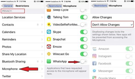 how to give to how to enable disable microphone to whatsapp on iphone