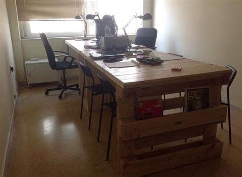 Handmade Computer Desk - wood pallet office computer desk 99 pallets
