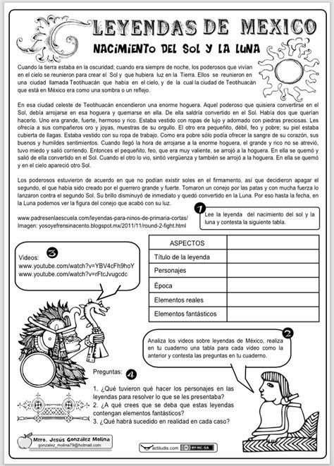 Image result for actividades sobre leyendas para niños de