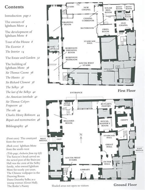 hever castle floor plan plan of main house at ightham mote kent england uk