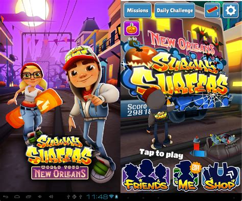 game subway mod cho android tải game subway surfers cho android