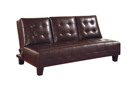 Armless Futons by Brown Leather Armless Convertible Futon 300153