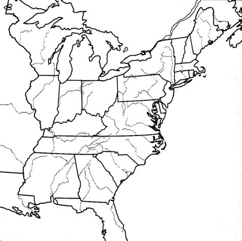 eastern united states blank map early republic best of history web
