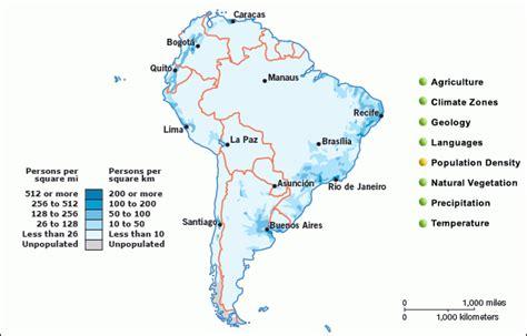 population map of south america grolier atlas