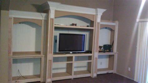 rileys painted built  entertainment center  wood
