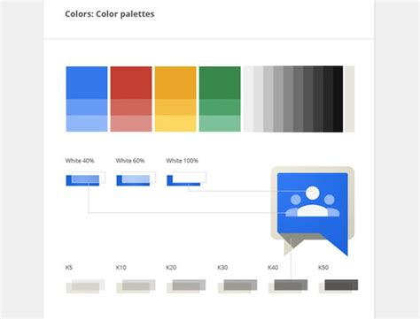 google design guidelines a rare look at the graphic design guidelines at google