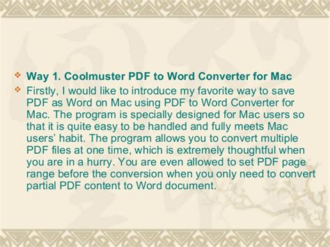 convert pdf to word doc on a mac ways to convert pdf to word document on mac