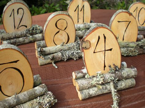 Wooden Table Numbers Wedding by Rustic Wooden Wedding Reception Table Numbers Onewed