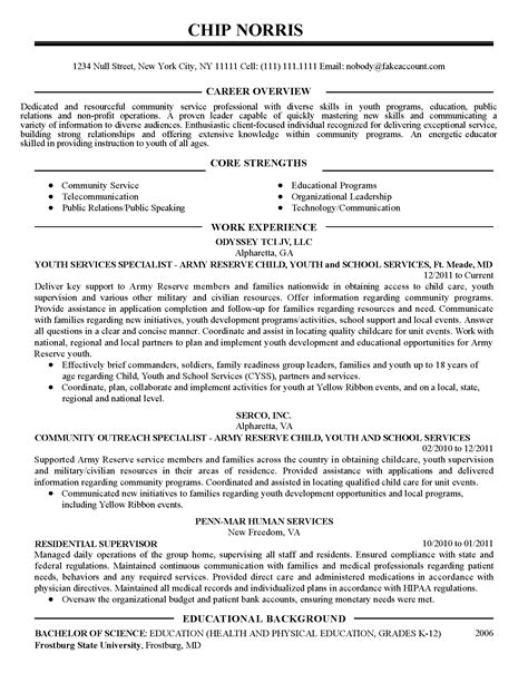 professional community service coordinator templates to