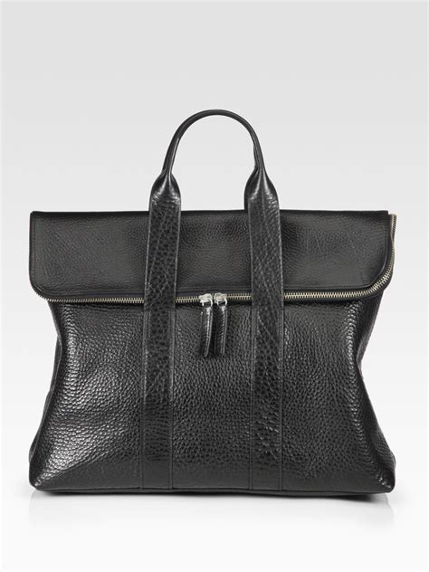 31 Phillip Lim Bag Shoulder Tote by 3 1 Phillip Lim 31 Hour Shoulder Bag In Black For Lyst