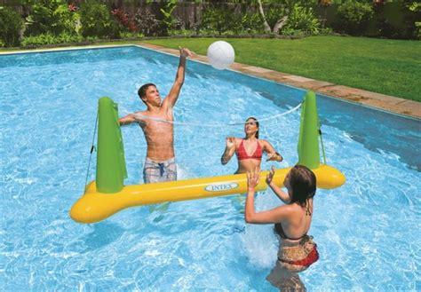 rete da pallavolo da giardino 56508 intex rete pallavolo gonfiabile gigante da piscina