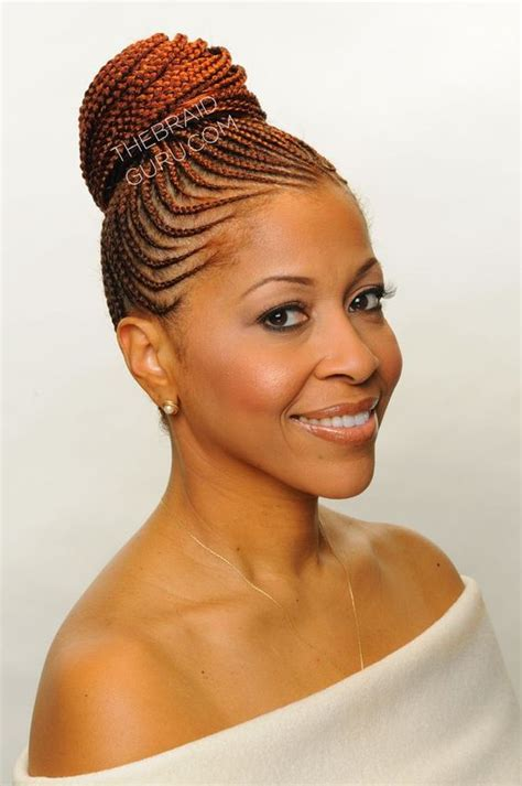 red braids in a bun 75 super hot black braided hairstyles to wear beautiful