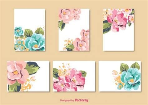 imagenes tarjetas retro decorado flor vintage tarjetas descargar vectores gratis