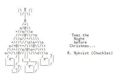 christmas tree text symbol chris ascii trees ascii scoop it ascii text ascii