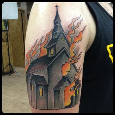 gary tattoo church by gary dunn tattoonow
